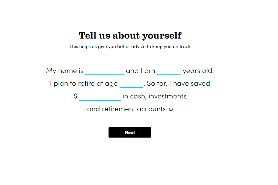 Tell Us About Yourself - Personal Capital
