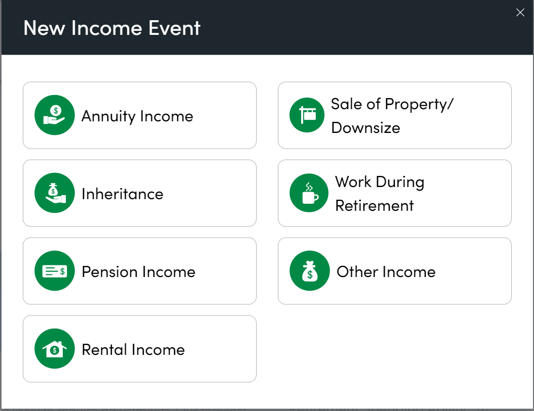 New Income Event Personal Capital